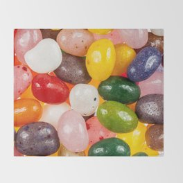 Cool colorful sweet Easter Jelly Beans Candy Throw Blanket
