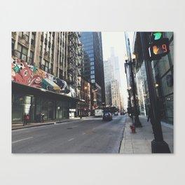 Chicago Street View Canvas Print