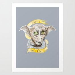 Dobby free Elf Harry Patter Art Print