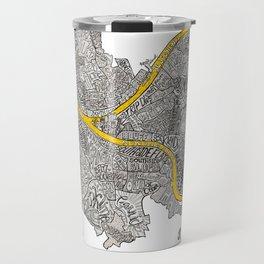 Pittsburgh Neighborhoods   3 Gold Rivers Travel Mug