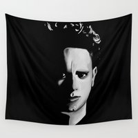 gore Wall Tapestries featuring DM : Martin Gore From Song of Faith and D. (1993) by Luc Lambert