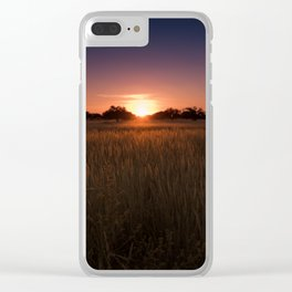 African Kalahari Sunset Clear iPhone Case