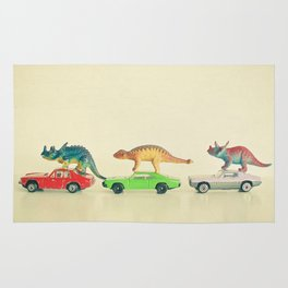 Dinosaurs Ride Cars Rug