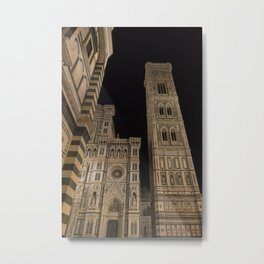 piazza del duomo cathedral square Firenze Tuscany Italy Metal Print