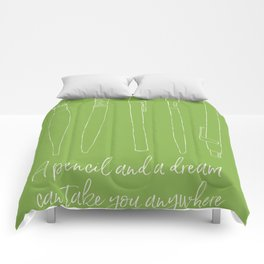 A pencil and a dream... greenery! Comforters