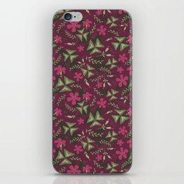 Shamrock Floral Layered Pattern / Purple iPhone Skin