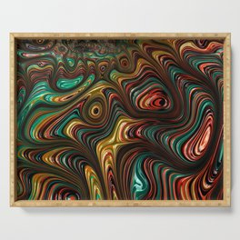 Trippy Fractal Serving Tray