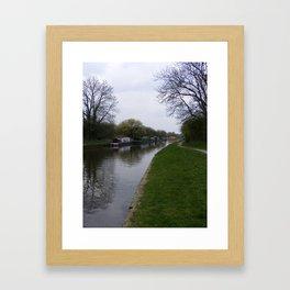 Leeds to Liverpool canal Framed Art Print