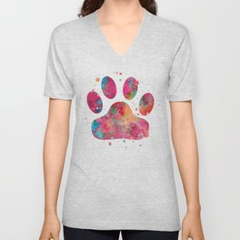 Colorful Paw Unisex V-Neck