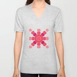 Pink Patterned Pebbles (Geometric pattern) Unisex V-Neck