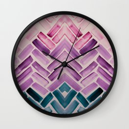 Decor Colorful Watercolor Abstract Pattern Wall Clock