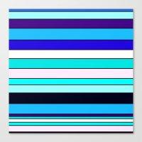 stripe Canvas Prints featuring Stripe by Mishu & Casco