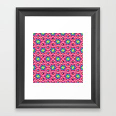 Facets Framed Art Print