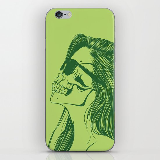 Skull Girl 2 iPhone & iPod Skin