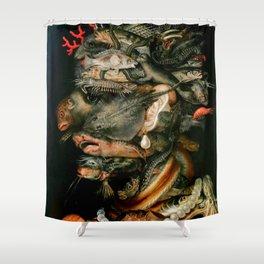 "Giuseppe Arcimboldo ""Four elements - Water"" Shower Curtain"