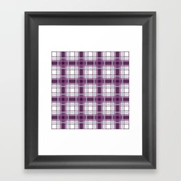 Plaid in Mauve, Pink and Gray Framed Art Print