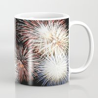 fireworks Mugs featuring Fireworks by Urlaub Photography