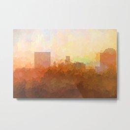 Augusta, Georgia Skyline - In the Clouds Metal Print