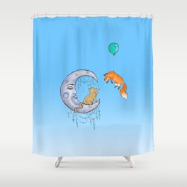 The fox and the cat Shower Curtain