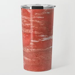 Indian red colorful wash drawing Travel Mug