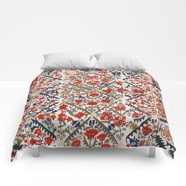 Bokhara Nim Suzani Southwest Uzbekistan Embroidery Print Comforters