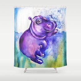 Fiona the Hippo - Splashing around Shower Curtain