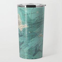 Vintage Green Transatlantic Mapping Travel Mug