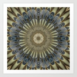 Stay cool floral mandala Art Print