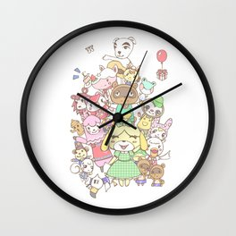 Animal Crossing (white) Wall Clock