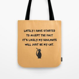 Cat Soulmate Tote Bag