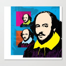 WILLIAM SHAKESPEARE (FUNKY-COLOURS MONTAGE) Canvas Print