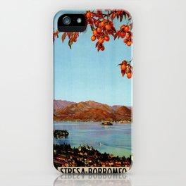 Stresa Borromeo Lake Maggiore 1927 iPhone Case