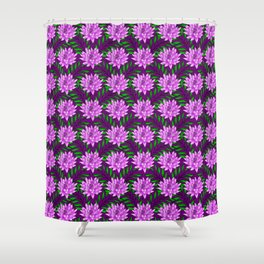 pink blooming lily flowers and green leaves plant floral burgundy pretty feminine nature pattern Shower Curtain