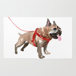 watercolor dog vol 5 french bulldog Rug