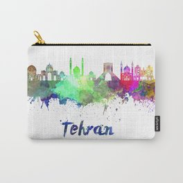 Tehran skyline in watercolor Carry-All Pouch