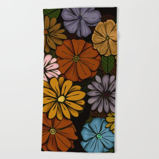 Abstract #418 Flower Power #6 Beach Towel