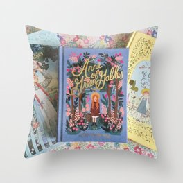 Anne of Green Gables Books Throw Pillow