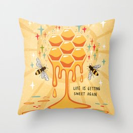 Life is getting sweet again Throw Pillow