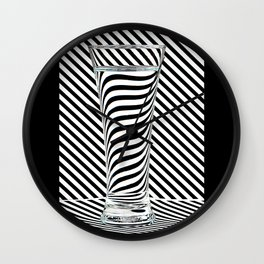Striped Water Wall Clock