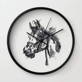 Horse Ink Drawing Wall Clock