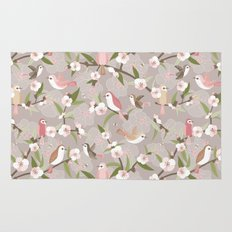 Blossom and birds Rug