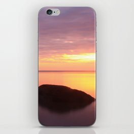 Fiery Sunset over the Porkies iPhone Skin