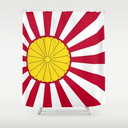 Japanese Flag And Inperial Seal Shower Curtain