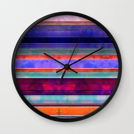 Serape Stripe Mexicali Wall Clock