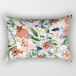 Terra Cotta Floral Botanical Watercolor Rectangular Pillow