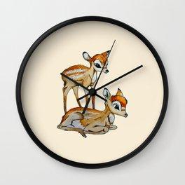 Darling Fawns  Wall Clock