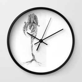Pearl Holder (part of the Strange Plants series) Wall Clock