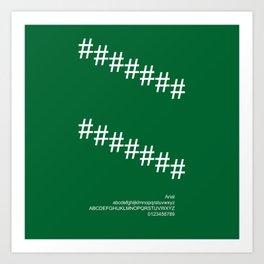 DECORATION - FontLove - CHRISTMAS EDITION Art Print