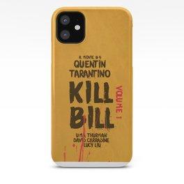 Kill Bill, Quentin Tarantino, minimal movie poster,  Uma Thurman, Lucy Liu, alternative film iPhone Case