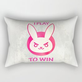 I play to win Rectangular Pillow